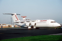 G-BPNT British Aerospace 146-300 Flightline/Palmair (pslg05896) Tags: gbpnt bae146 flightline palmair boh eghh bournemouth hurn