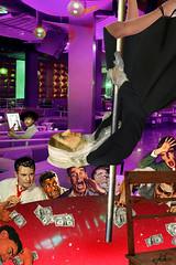 """Whistler Gets Lucky"" (barry.kite@att.net) Tags: poledancing whistler whistlersmother nightclub stripper poledancer painter inspiration collage parody humor weird"