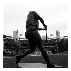 master the move (vfrgk) Tags: statue figure tonygwynn baseball sandiego padres mrpadre stadium sandiegopadres petcopark gaslamp blackandwhite bnw bw monochrome streetphotography urbanphotography urbanfragment urbanart
