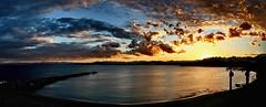 2018-02-07 16.30 (anyera2015) Tags: ceuta canon 70d canon70d panorama panorámica playa ribera hdr cielo nublado nubes atardecer