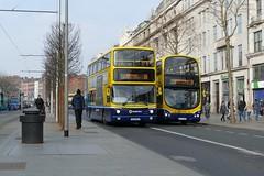AX 635 & GT 148 O'Connell Street 24/02/18 (Csalem's Lot) Tags: dublin dublinbus bus oconnellstreet volvo ax635 gt148 16 9 gt alx400 ax wrightsgemini