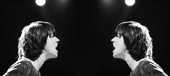 Happy Birthday, Sharon Van Etten! (kirstiecat) Tags: sharonvanetten sve music live concert performance diptych multipleexposure visceral monochrome blackandwhite monochromemonday woman female
