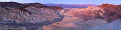Sunrise from Zabriskie Point (OJeffrey Photography) Tags: deathvalley zabriskiepoint california ca deathvalleynationalpark dvnp dawn soft pano panorama nikon d850 ojeffreyphotography ojeffrey jeffowens