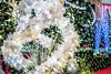 beautiful christmas decorations for holiday season (DigiDreamGrafix.com) Tags: christmas decorations firtree newyear christmaseve horizontal festive greeting happy holiday xmas merry christmastime baubles mistletoe mall lights bokeh blur focus