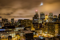 Clouds in the Night over Chicago (T P Mann Photography) Tags: long exposure chicago illinois urban cityscape buildings architecture lights action life willis tower clouds canon tamron