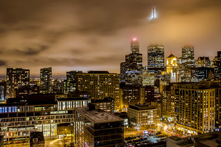 Clouds in the Night over Chicago
