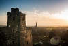 Kidwelly from the Castle (Chris J Richards Photography) Tags: afternoon ancient carmarthenshire castle church cymru goldenhour steeple tower village wales