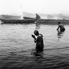 Varanasi, and the Ganges 001 (haribote) Tags: carlzeiss varanasi india cf100mmf35 hasselblad cityscape trix 503cw 400tx kodak uttarpradesh インド in