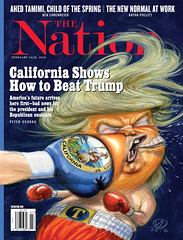 California Shows How to Beat Trump. The Nation. February 12/19, 2018. Illustration by Victor Juhasz. (rbest90) Tags: thenation magazinecover editorialdesign trump california poitics america