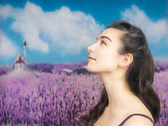 Le bonheur est dans les champs de lavande (Tempus Aura) Tags: alto background beautiful blackhair caucasian cute instrumentiste longhair musician portrait portraiture studio woman younglady