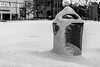 Snow Trash (Phil Roeder) Tags: desmoines iowa blackandwhite monochrome canon6d canonef70200mmf4lusm snow trash