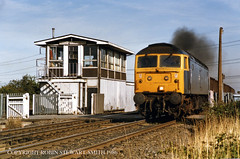 BR Class 47 No 47013 Sudforth Lane Signal Box (BR NER 1959) 7th September 1986 (robinstewart.smith) Tags: br class 47 sudforth lane signal box 1986