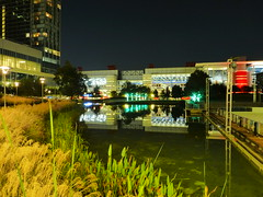 Houston, TX Convention Center at Night (army.arch) Tags: houston texas tx conventioncenter night city photography discoverygreen pond reflection