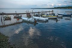 Harbour Jetty (fotofrysk) Tags: boats jetty pier workingboats fishingboats uvalapeskera fishermensharbour clouds reflection adriaticsea adriatic buildings architecture croatia porec istria dalmatiancoast sigmaex1020mmf456dch nikond7100 201710040195