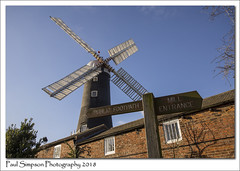 Skidby Mill, East Yorkshire (Paul Simpson Photography) Tags: windmill skidbymill museum eastyorkshire eastriding humberside old tallbuilding bluesky skidby sails paulsimpsonphotography february2018 winter sunshine sunnyday imagesof imageof photoof photosof sonya77 photogaphy photosofwindmills imagesofwindmills