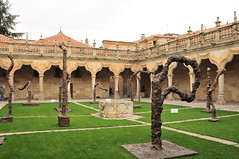 Strange Trees ! (john a d willis) Tags: spain salamanca universityofsalamanca patiodeescuelas miguelbarcelo sculptures