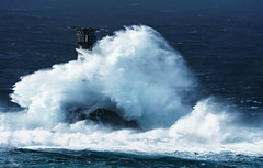 Ophelia hits longships lighthouse (Swirly_Magnolia) Tags: hurricane ophelia longships lighthouse lands end storm sea stormy wave tidal massive tall big water destruction england uk cormwall 2017 long ships swirly magnolia nikon blue stunning shocking huge great power powerful crashing crash covering