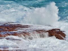 wave (sarinozi) Tags: australia australian outdoor nature natural seaspray spray rock coast shore splash white