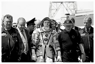 That Distressing Moment When You're Led Away From the Spacecraft