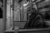 2018_040 (Chilanga Cement) Tags: fuji fujix100f x100f xseries bw blackandwhite monochrome tony travel commuter commute train north northern reading window glass man guy