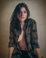 Sexy Plaid (Photography by Rp) Tags: wwwrpphotographytorontocom rpphotographytoronto studio body girl woman model sfw alluring sensual sexy beauty person portrait passionate pose brunette