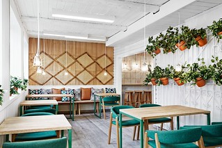 Vino Veritas Eco-Gastrobar in Oslo Proves Design Merges Cultures #кафе#дизайн