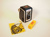 My First Camera (PDX Bailey) Tags: smileonsaturday saturday smile onpurewhite white pure kodak duaflexii duaflex camera 1950s 50s film yellow manual lens flash old history
