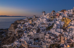 Twilight in Oia (Vagelis Pikoulas) Tags: oia thira santorini cyclades kyklades greece europe canon 6d tokina 2470mm view landscape sea seascape city cityscape winter january 2018 blue hour long exposure sunset sky