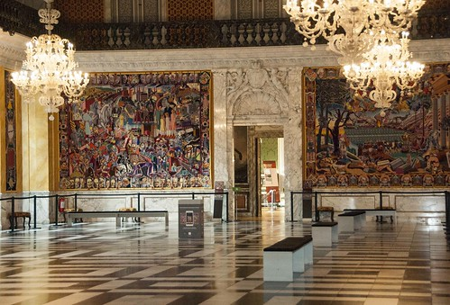 Christiansborg Palace Copenhagen Great Hall With Tapestries