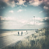 Roller on the beach (Yoann Delaplace) Tags: femmes filles roller skate beach landscape couple patins dunkerque malol jetée digue balladze pastel doux