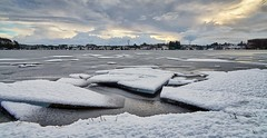 Snow and ice, Norway (Vest der ute) Tags: g7xll g7xm2 norway rogaland karmøy water waterscape landscape lake ice snow winter clouds sky trees outdoor fav25 fav200