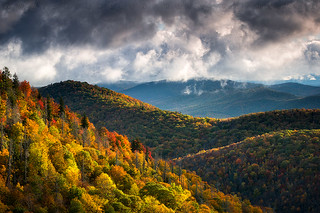 North Carolina Mountains Asheville Nc Autumn Sunrise