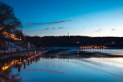 Lewiston New York Waterfront (mbstuart) Tags: longexposure sunset nightfall lewiston niagarariver