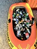 Queenstown Christmas (Remko Tanis) Tags: alcohol beer boat bottle christmas crowd holiday holidays inflatable lake newzealand party queenstown recycle recycling rubber summer wakatipu xmas