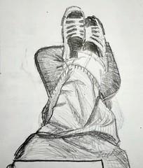 C'est le pied ! (cecile_halbert) Tags: dessin croquis crobard carnet pieds crayon graphite papier draw drawing sketch sketching sketchinglife sketchbook foot artbook artdiary artjournal artist carbondrawing carbondraw carbon pencil journaling journal