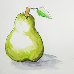Poire (cecile_halbert) Tags: aquarelle encre dessin croquis crobard poire watercolor carnet drawing nature fruit food sketch sketching sketchbook usk art artist journal diary journaling