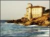 Castello del Boccale (Livorno) (www.stefanonocetti.com) Tags: italia livorno castello del boccale fotografia photography lunga esposizione world travel canon castle rocce schiuma blu azzurro giallo grigio