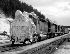 Golden BC Sunday February 20th 1972 1200PST (Hoopy2342) Tags: train rail railway railroad bc britishcolumbia golden snowslide avalanche