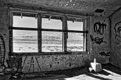 Home on the range (Jason DM) Tags: hdr bw lens sigma d5100 nikon landscape forgotten lost deserted mojave ca california mountains view desert house abandoned
