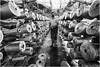 In The Jute Mill (channel packet) Tags: india kolkata jute mill factory industry worker reels bobbins hessian manufacturing monochrome davidhill