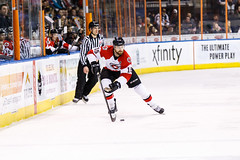 "Kansas City Mavericks vs. Cincinnati Cyclones, February 3, 2018, Silverstein Eye Centers Arena, Independence, Missouri.  Photo: © John Howe / Howe Creative Photography, all rights reserved 2018. • <a style=""font-size:0.8em;"" href=""http://www.flickr.com/photos/134016632@N02/39407447244/"" target=""_blank"">View on Flickr</a>"