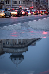 IMG_2238 (TANDRASPHOTOS) Tags: budapest mirror reflection colors street cars lamps lights