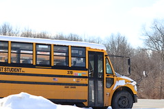 First Student #370 (ThoseGuys119) Tags: firststudentinc schoolbus pinebushny thomasbuilt dslr canon eos77d winter sunlight beautiful snow
