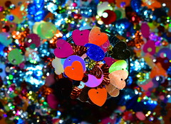 Heart of Many Colours (Dreaming of the Sea) Tags: crazytuesdaytheme 7dwf nikon d7200 tamronsp2470mmf28divcusd sequins heart bokeh hbw