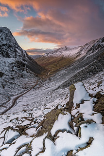 sunset from honister pass