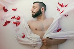 Dreamin' of Valentine (francesco ercolano) Tags: man male valentine valentino petals piume ali wings milk red nude muscles canon fashion glamour