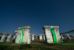 Stonehenge II (Nocturnal Kansas) Tags: night nocturnal fullmoon flashlight led1 protomachines d800 nikon nightphotography lightpainting stonehenge texas
