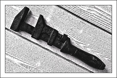 wrench__ IMG_0104 (Tom Fox Photography) Tags: tool wrench oldwrench shiftingspanner wood whitewood