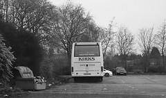 Settee Bus: Kirks Coaches Ferqui Solera-bodied Mercedes Atego O1120L, TJZ 9343 (paulburr73) Tags: tjz9343 mercedesbenz mb mercedes bus coach kirks kirksminicoaches bedworth coventry a444 jimmyhillway therange sainburys carpark winter litter settee couch seat junk january 2018 atego s951rbe minibus westmidlands dumped debris ferquisolera o1120l