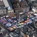 The Mart funfair in Kings Lynn - aerial